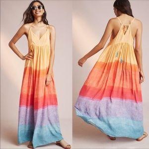 Carla Weeks Setting Sun Rainbow Flowy Maxi Dress